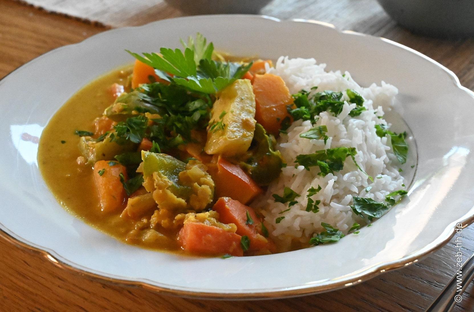 Gemüse Reis Tofu